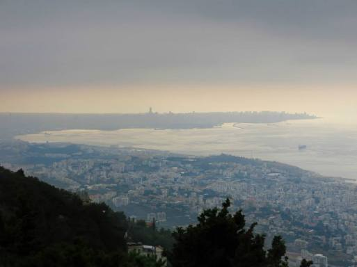 Beirut Bay - the view from Harissa