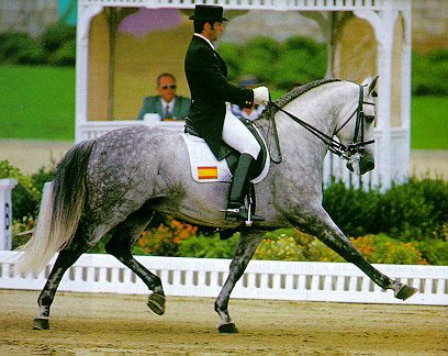 Ignasio Rambla with Evento (Silver medal in team dressage Athens 2004)